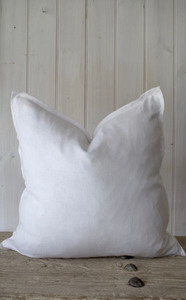 Provence 100% Linen Cushion- White