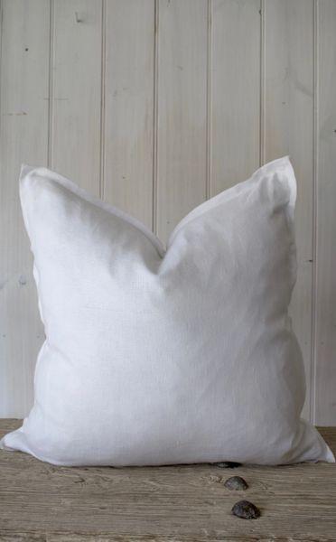 Provence 100% Linen Cushion- White