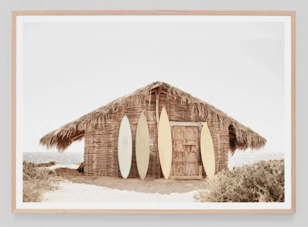 Surf Hut Framed Print