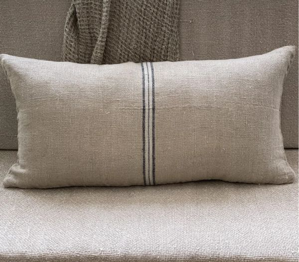 Blue Stripe Linen Cushion