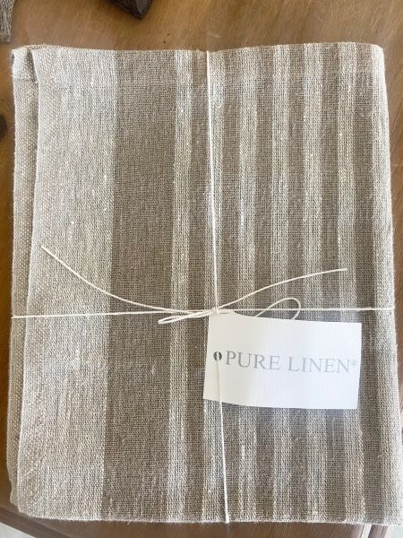 Pure Linen Stripe Table Runner