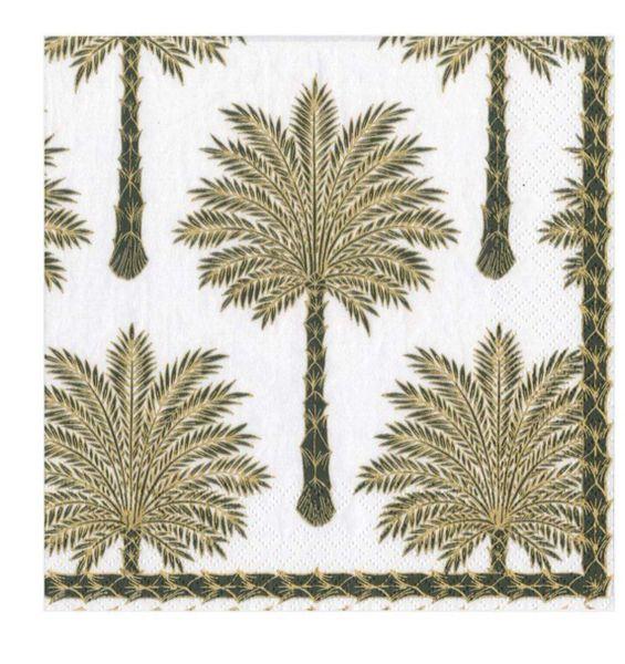 Grand Palm Lunch Napkins - Black