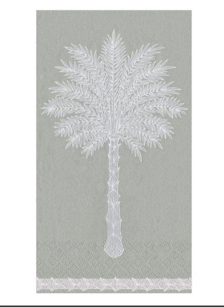 Grand Single Palm Lunch Napkins - Grey