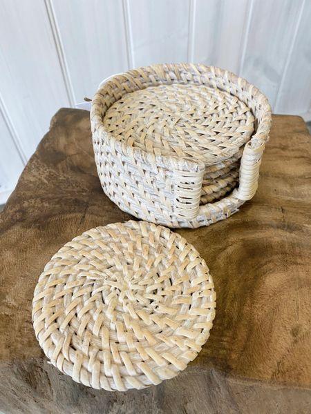 Rattan Coasters Set of 6