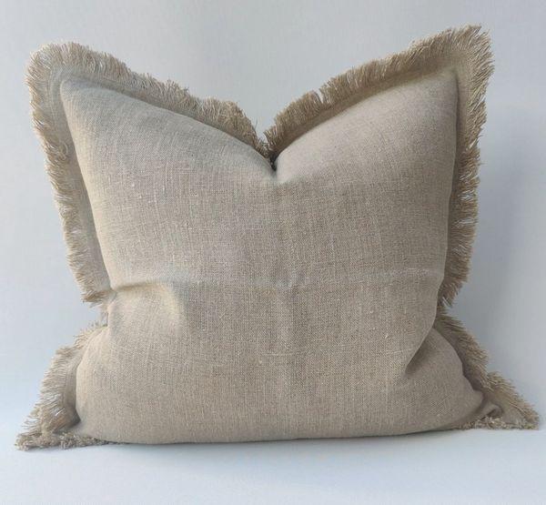 Riviera French Linen Fringe Cushion