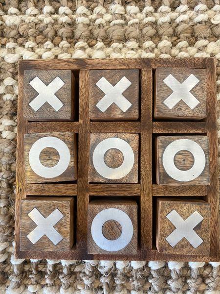 Mango Wood X and O Game