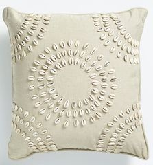Shell Cushion Natural - Circular Pattern