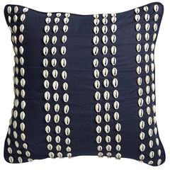 Shell Cushion Navy 50cm