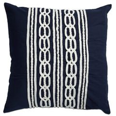Rope Cushion Navy 50x50cm