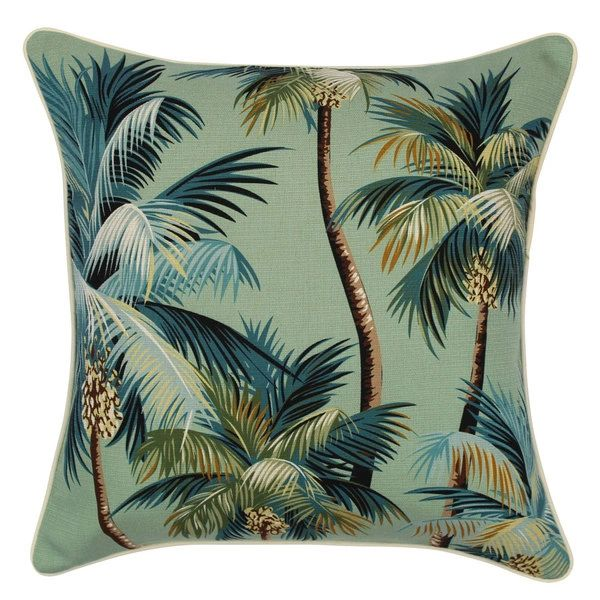 Outdoor Cushion- Palm Trees Lagoon