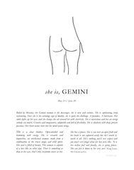 Zodiac Print- Gemini