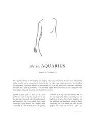 Zodiac Print- Aquarius