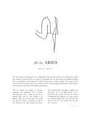 Zodiac Print- Aries