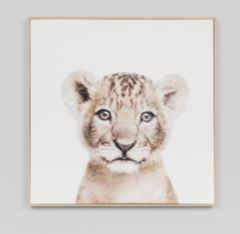 Lovable Cub Canvas Print w/Frame