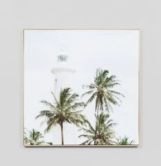 Tropical Lighthouse Canvas Print w/Frame