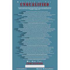 Unqualified Manifesto Poster
