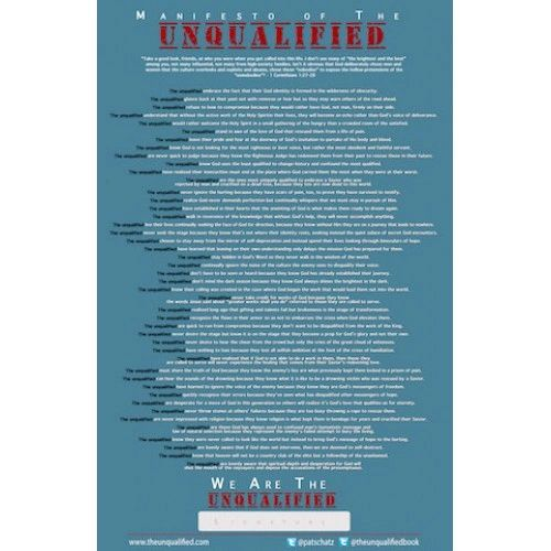 Unqualified Manifesto Poster