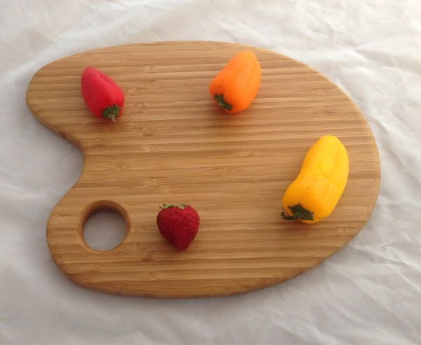 Artist's Pallet Serving and Cuttting Board