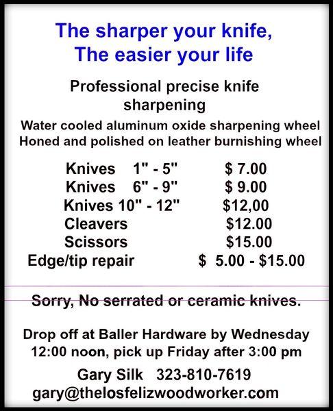Knife sharpeng