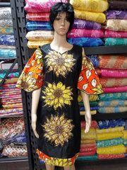 EMBELLISHED STONED ANKARA SHORT DRESS-10