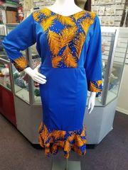 EMBELLISHED SHORT ANKARA DRESS-81