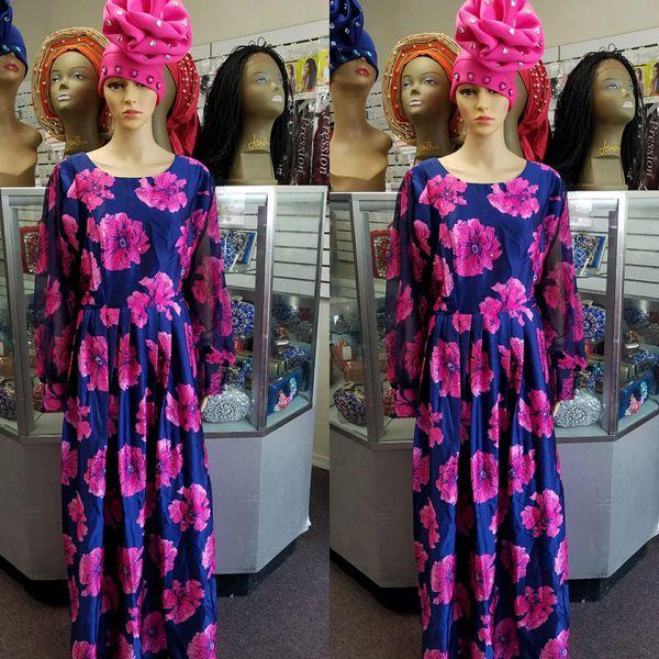Embellished Ankara Silk Dress-149