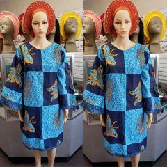 SHORT ANKARA DRESS-178
