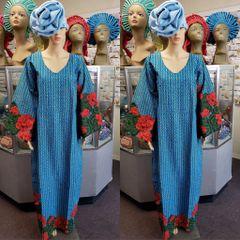 EMBELLISHED ANKARA DRESS-186