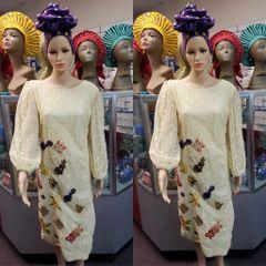 FLORAL EMBELISHED DRESS-CLR 11