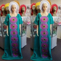 EMBELLISHED DRY LACE WITH ANKARA-205