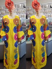 EMBELLISHED DRY LACE WITH ANKARA-210