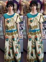 EMBELLISHED ANKARA DRESS-209
