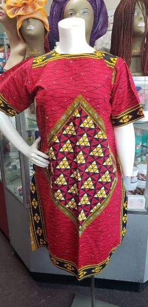 EMBELLISHED ANKARA DRESS-213
