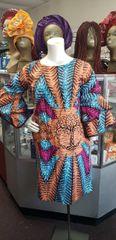 EMBELLISHED ANKARA DRESS-214