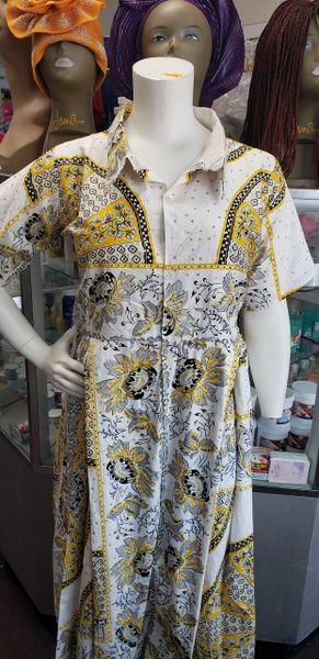 EMBELLISHED ANKARA DRESS-215