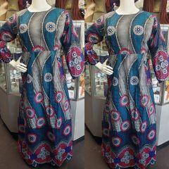 EMBELLISHED ANKARA DRESS-216