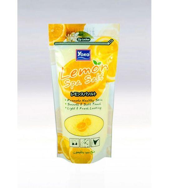 YOKO-547 Lemon SPA Salt (Zipper Bag) 10 Oz / 300gr
