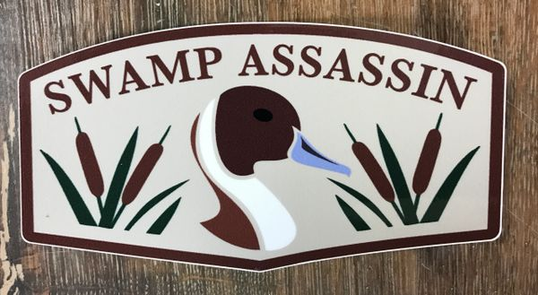 Swamp Assassin Old School Pintail Decal TAN