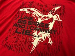 """New """"I Like Big Sprigs Tee"""" Pintail Red Shortsleeve"""