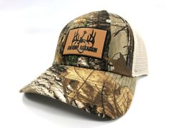 Realtree Xtra and Khaki Swamp Assassin Leather Patch Snapback