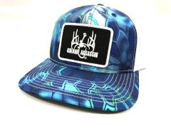 New Kryptek Pontus Blue Ranch Series Baseball Fit Snapback