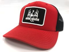 Red/Black Ranch Series BaseballFit Snapback (Black/White Patch)