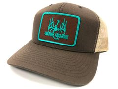 Brown/Khaki Ranch Series BaseballFit Snapback (Brown/Teal Patch)