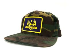 Ranch Series Old School Cam Old School Snapback (Purple/Gold Patch)