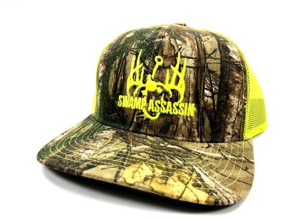 Swamp Assassin Realtree Extra Camo with Neon Yellow Logo Snapback