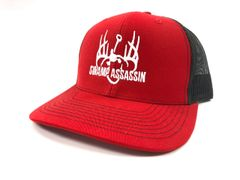 NEW RED AND BLACK WITH WHITE LOGO SWAMP ASSASSIN SNAPBACK