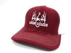 NEW MAROON/CRIMSON AND WHITE LOGO BASEBALL FIT SNAPBACK