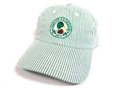 Seersucker Mallard Crest Golf Hat (White/Green)