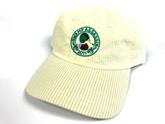 Seersucker Mallard Crest Golf Hat (White/Yellow Gold)