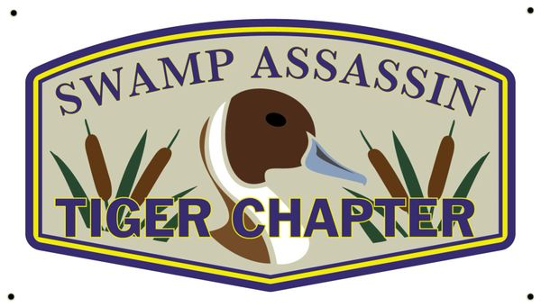 "Swamp Assassin Pintail ""Tiger Chapter"" Indoor/Outdoor Banner!"